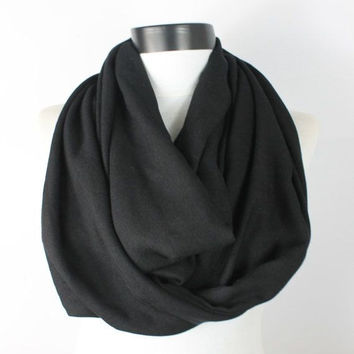 black pashmina scarf,infinity scarf, scarf, scarves, long scarf, loop scarf, gift