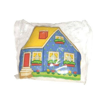 Vintage AVON Farm House MAGNET 80s Calico Village Scented Cushion Farmhouse Chic Kitchen Decor Fabric Country Cottage Pomander Magnet UNUSED