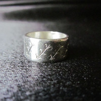 Tribal wedding band ring, 925 silver, sterling rings wide silver band tribal jewelry, Native jewelry, Southwestern jewelry ceremonial