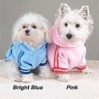 PINK - LARGE - Sporty Fleece Pullover - DOGGY SPORTS SWEATSHIRT:Amazon:Pet Supplies