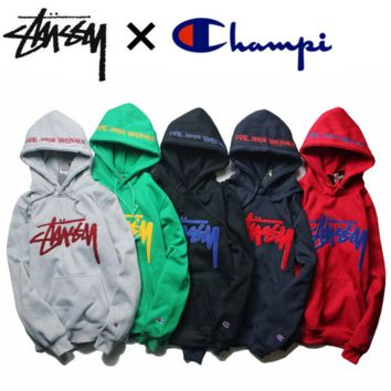 """""""Champion"""" joint hooded add wool sweater joker leisure cotton  sweater(5-COLOR)"""