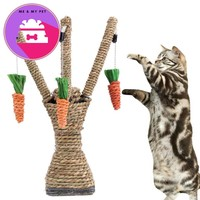 Pet Cat Toys Interactive Tree Tower Shelves Climbing Frame Scratching Post Sisal Rope With Cat Tooth Cleaning Chew Radish