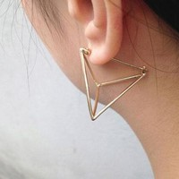 BeautyWay Trendy Geometric Triangle cone Shape Stud Earrings