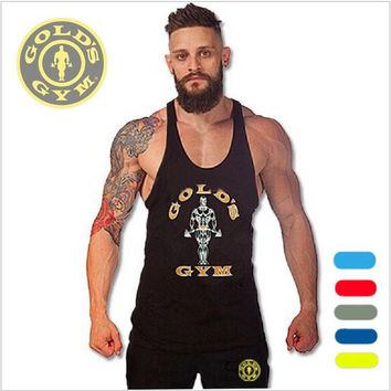 Superman Gyms Clothing Bodybuilding Singlets Mens Tank Tops Shirt,Fitness Men's Golds Gyms Stringer Tank top Muscle Undershirt