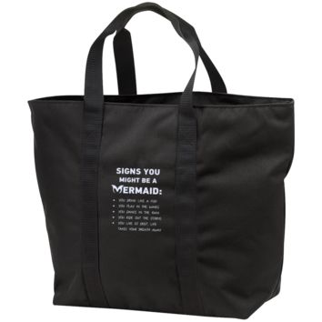 Signs You Might Be A Mermaid All Purpose Tote Bag