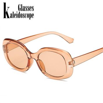 Vintage fashion Sunglasses Women Oval Luxury Brand Designer Retro Red Sun Glasses Mirror Sunglass Men shades gafas de sol UV400