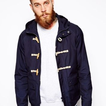 ASOS Hooded Jacket With Duffle Fastening