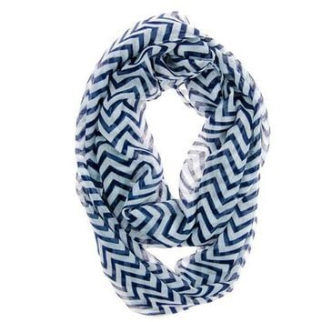 ICIKJG2 Hot Autumn Winter  Women Infinity Chevron Zig Zag Color Block Double Loop Sheer Scarf Wrap Shawl For Women WAug29