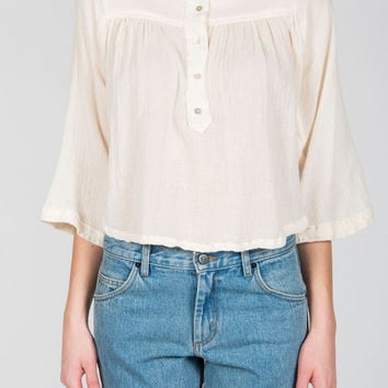 Objects Without Meaning - Kelza Top in Chalk