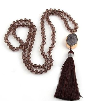 Bohemian Tribal Rustic Soldered Artisan Necklace