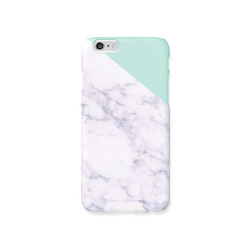iPhone 5s case, iPhone 5 case - Melon Mint edge of a marble - iPhone 6 case, iPhone 6 Plus case, Good Luck Gold Sticker, non-glossy M07