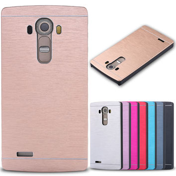 for LG G4, Luxury Metal Aluminum Case Cover for LG Optimus G4 H815 H810 H811 VS986 LS991 F500 Phone Accessories Hard Armor Shell