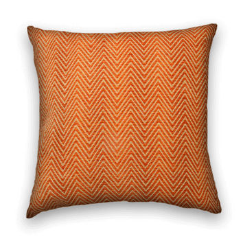 Herringbone Woven Decorative Pillow Cover -- 20 x 20 Throw Pillow Cover-Burnt Orange