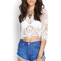 FOREVER 21 Perma-Creased Denim Cutoffs Denim