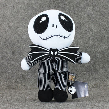 New 3pcs/lot The Nightmare Before Christmas Jack Skellington 25cm Tall Plush Doll Toy Free Shipping