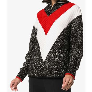 Givenchy Zip Up Sweater - Multicolor Cotton Sweater