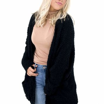 Women's Oversized Cardigan with Pockets
