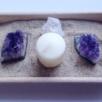 Amethyst Crystal Garden Healing Crystals and Stones Crystal Display Mini Quartz Garden Quartz Crystal Set