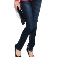 Blue On a Trip Dark Wash Skinny Jeans | $11.50 | Cheap Trendy Jeans Chic Discount Fashion for Women