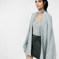 Marled Balloon Sleeve Cover-Up