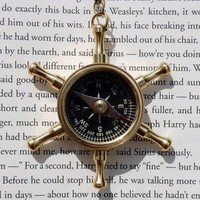 Maritime Helm with Compass Necklace | Wicked Clothes