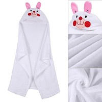 Hooded Blanket Newborn Baby Soft Fleece Animal Shape Warm Hooded Bath Towels Winter Autumn Soft Lovely Bath Towel Blanket