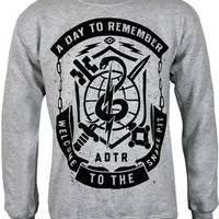 A Day To Remember Snake Pit Men's Grey Sweatshirt - Buy Online at Grindstore.com