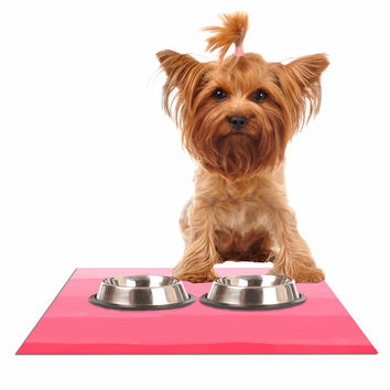 """Chelsea Victoria """"Pink Ombre Layer Cake"""" Pink Stripes Dog Place Mat"""
