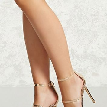 Metallic Strappy Heels