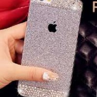 iAnko® Bling Rhinestone Diamond Crystal Glitter Bling Hard Case Cover Shell Phone Case for Iphone 6 4.7 Inch (Silver (hard case))
