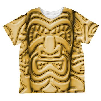 Tiki God Gold Face Luau All Over Toddler T Shirt