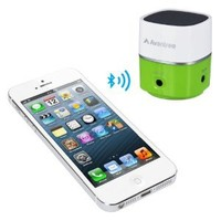 MiniSuit Avantree Portable Speaker for iPhone, Cell, Tablet, Laptop, PC (Bluetooth or 3.5mm) Green