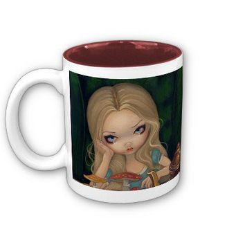 Alice in Wonderland and the Mad Hatter Mug from Zazzle.com