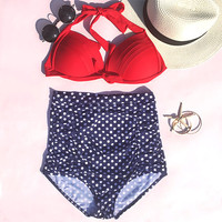 Cupshe Dot About It Halter Bikini Set