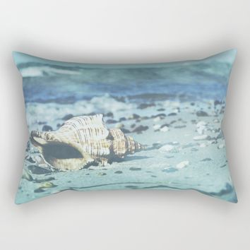 Shell on the beach Rectangular Pillow by Tanja Riedel