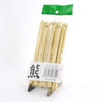 """BambooMN Brand - 15cm (6"""") Bamboo Crochet Hooks Sets - 11 sizes 3mm - 10mm - Natural Finish - Comes w/ Stitch Markers & Snip"""
