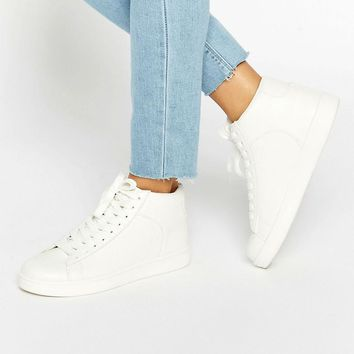 New Look | New Look High Top Snake Effect Sneaker at ASOS