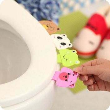 Free shipping 1 pcs portable convenient to Toilet lid device is mention Toilet set potty ring handle home Bathroom products sets