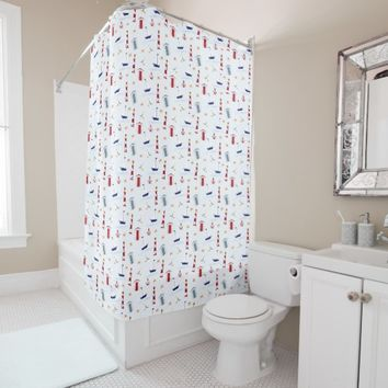 nautica pattern shower curtain