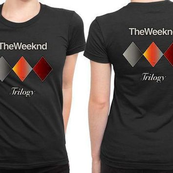 The Weeknd Trilogy 2 Sided Womens T Shirt