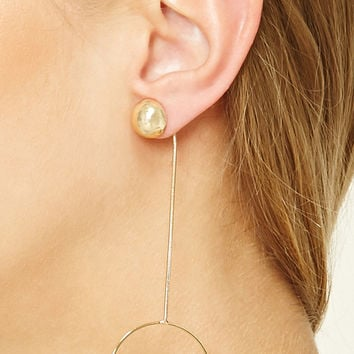 Hoop Drop Earrings
