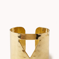 Clear Cut Triangle Cuff