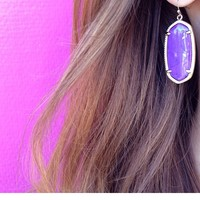 Elle Earrings in Violet - Kendra Scott Jewelry