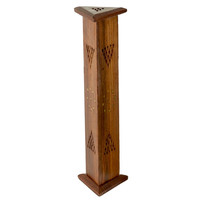 Wooden Incense Burner Tower - Triangle