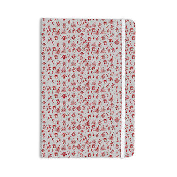 """Snap Studio """"Miniature Christmas Red"""" Gray Everything Notebook"""