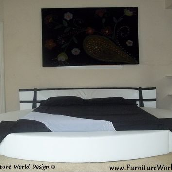 "Modern Style Round Bed ""Dove 2014""  with 2 sides storage"