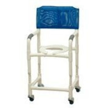 Patterson Medicals Adjustable Height Rolling Shower Chair