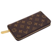 Louis Vuitton LV Women Leather Zipper Wallet Purse