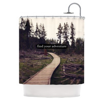 "Leah Flores ""Find Your Adventure"" Nature Quote Shower Curtain"
