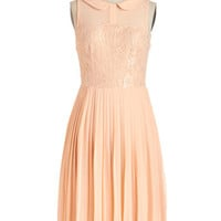 ModCloth Pastel Long Sleeveless A-line Dreamy in Peach Dress